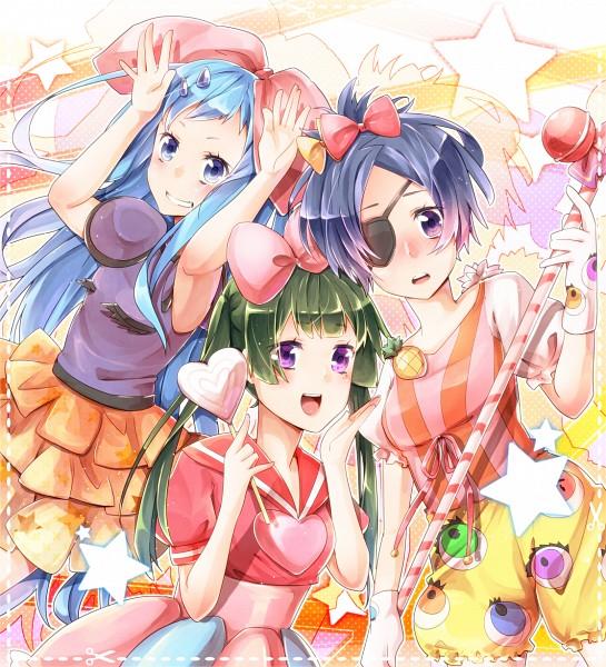 Tags: Anime, Sakuragi Ren, Katekyo Hitman REBORN!, Bluebell, Yuni, Chrome Dokuro, Kyary Pamyu Pamyu (Cosplay), Tsukematsukeru, PONPONPON, Fanart, Fanart From Pixiv, Pixiv, Candy Candy (Song)