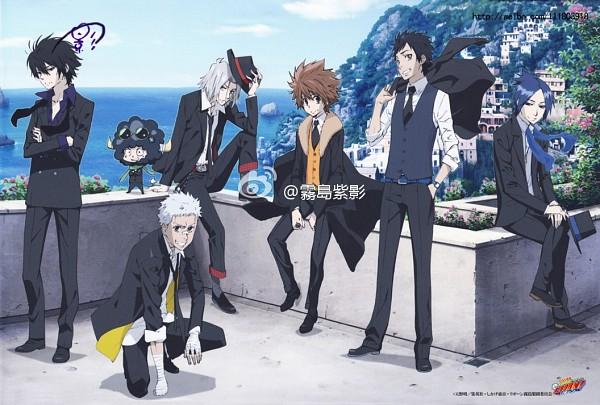 Tags: Anime, Tanaka Masayoshi, Katekyo Hitman REBORN!, Yamamoto Takeshi, Sasagawa Ryohei, Hibari Kyoya, Sawada Tsunayoshi, Rokudou Mukuro, Lambo, Gokudera Hayato, Official Art