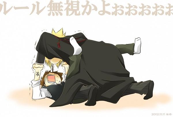 Tags: Anime, Ham, Katekyo Hitman REBORN!, Vongola Primo Giotto, Sawada Tsunayoshi, Pocky Game, Fanart, Pixiv, Fanart From Pixiv