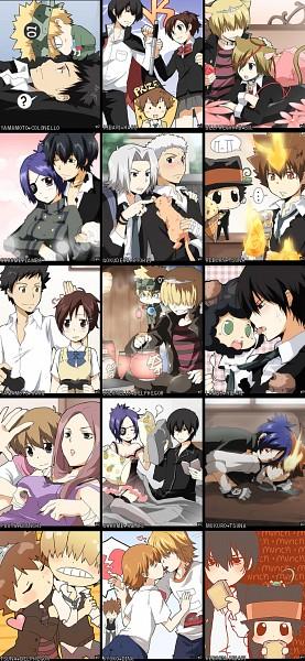 Tags: Anime, Kurot, Katekyo Hitman REBORN!, Sasagawa Ryohei, Gokudera Hayato, Sawada Tsunayoshi, Colonnello, Fuuta, Dino Cavallone, Yamamoto Takeshi, Chrome Dokuro, Belphegor, Sasagawa Kyoko