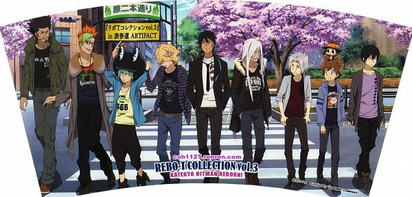 Tags: Anime, Tanaka Masayoshi, Artland, Katekyo Hitman REBORN!, Hibari Kyoya, Gokudera Hayato, Superbi Squalo, Xanxus, Fran, Belphegor, Leon (Katekyo Hitman REBORN!), Reborn, Sawada Tsunayoshi