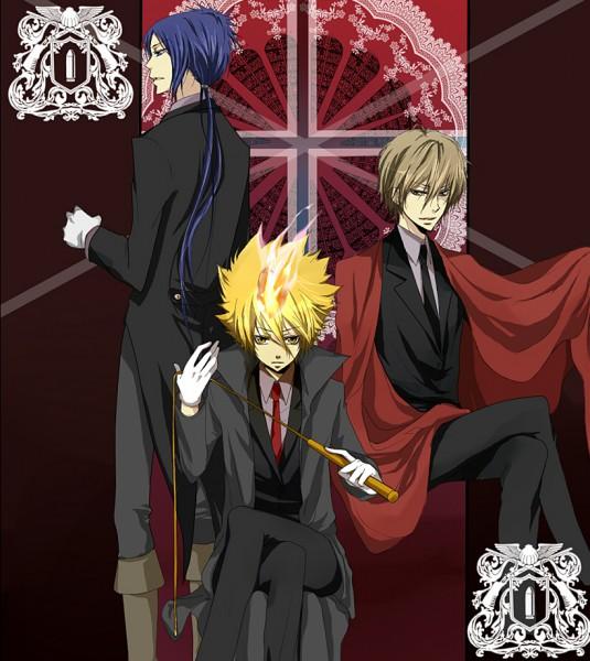 Tags: Anime, Katekyo Hitman REBORN!, Alaude, Demon Spade, Vongola Primo Giotto, Rokudou Mukuro