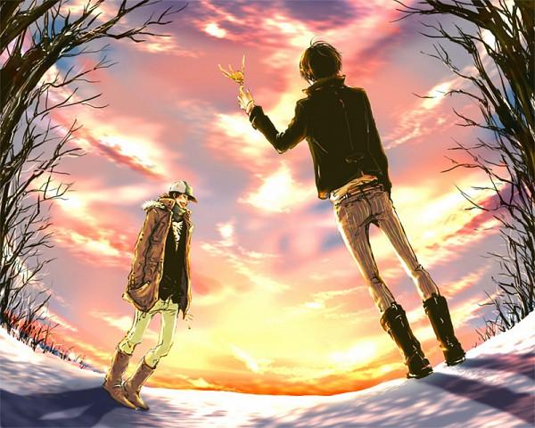 Tags: Anime, Katekyo Hitman REBORN!, Hibari Kyoya, Hibird, Yamamoto Takeshi, Fanart