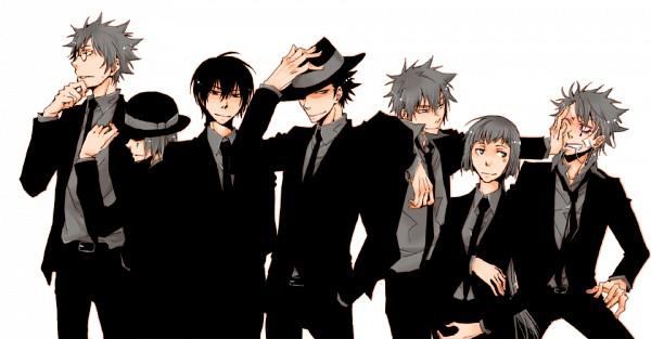Tags: Anime, Sen328, Katekyo Hitman REBORN!, Verde, Fon, Mammon, Reborn, Colonnello, Luche, Skull (KHR), Pushing, Facebook Cover, Fanart