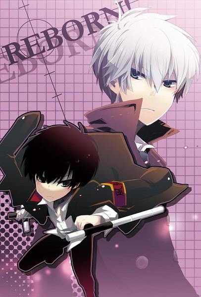 Tags: Anime, Yuzuki Gao, Katekyo Hitman REBORN!, Alaude, Hibari Kyoya, Tonfa, Fanart, Pixiv, Mobile Wallpaper