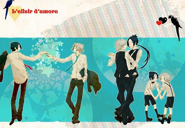 Tags: Anime, u1low, Katekyo Hitman REBORN!, Gokudera Hayato, Rokudou Mukuro, Pixiv, Fanart