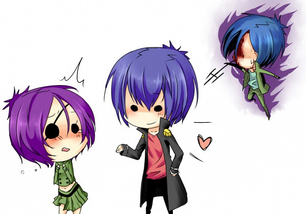 Tags: Anime, Katekyo Hitman REBORN!, Rokudou Mukuro, Chrome Dokuro, Demon Spade, Pixiv, Fanart