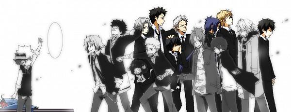 Tags: Anime, Kurot, Katekyo Hitman REBORN!, Sawada Tsunayoshi, Sasagawa Ryohei, Reborn, Lambo, Rokudou Mukuro, Gokudera Hayato, Dino Cavallone, Yamamoto Takeshi, Hibari Kyoya, Adult Lambo
