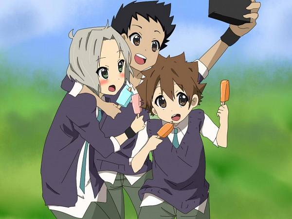 Tags: Anime, Katekyo Hitman REBORN!, Yamamoto Takeshi, Sawada Tsunayoshi, Gokudera Hayato, K-ON! (Parody), K-ON! Character Design