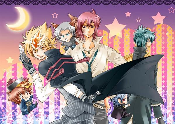 Tags: Anime, Katekyo Hitman REBORN!, Rokudou Mukuro, Gokudera Hayato, Sawada Tsunayoshi, Demon Spade, Vongola Primo Giotto, Pinstripe Suit