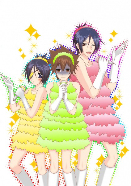 Tags: Anime, Kanna (EGOIST PINK), Katekyo Hitman REBORN!, Rokudou Mukuro, Sawada Tsunayoshi, Chrome Dokuro, Fanart