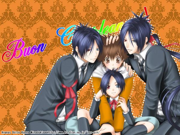 Tags: Anime, Kanna (EGOIST PINK), Katekyo Hitman REBORN!, Rokudou Mukuro, Sawada Tsunayoshi, Wallpaper