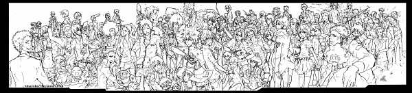 Tags: Anime, Ghazghaz (mangaka), Katekyo Hitman REBORN!, Lambo, G., Verde, Aoba Kouyou, Basilicum, Sasagawa Ryohei, Vongola Primo Giotto, Xanxus, Demon Spade, Belphegor