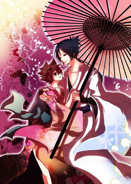 Tags: Anime, Katekyo Hitman REBORN!, Rokudou Mukuro, Sawada Tsunayoshi