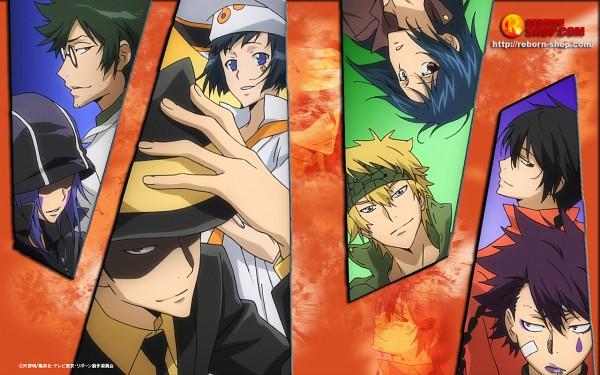 Tags: Anime, Tanaka Masayoshi, Katekyo Hitman REBORN!, Luche, Colonnello, Skull (KHR), Verde, Fon, Mammon, Lal Mirch, Reborn, Trench Coat, Wallpaper