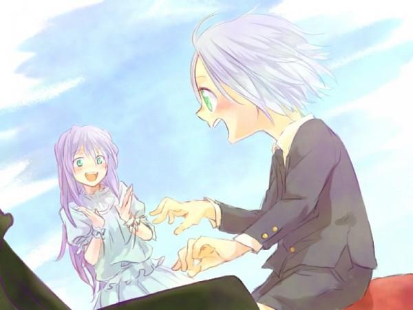 Tags: Anime, Katekyo Hitman REBORN!, Lavina, Gokudera Hayato, Playing, Stool, Clap, Artist Request