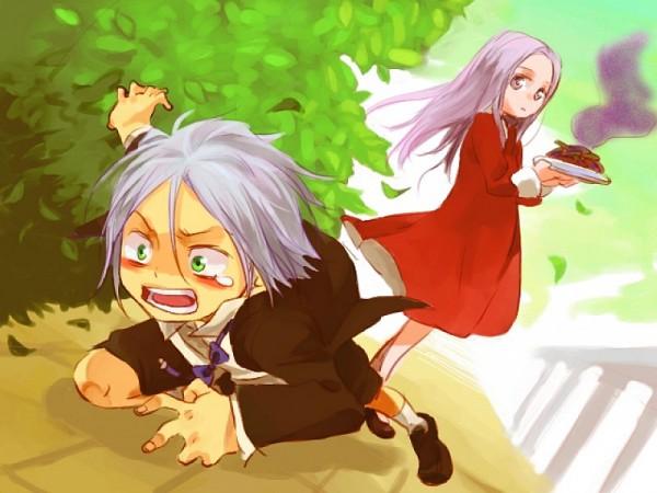 Tags: Anime, Katekyo Hitman REBORN!, Gokudera Hayato, Bianchi (Katekyo Hitman REBORN!), Balcony