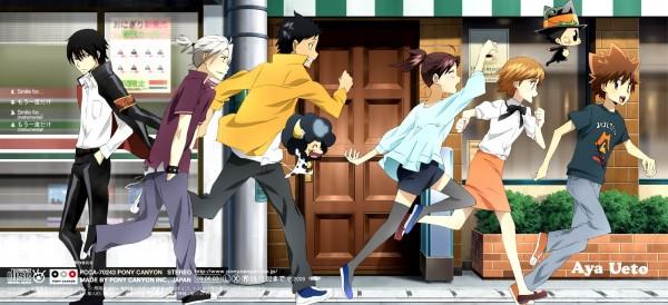 Tags: Anime, Tanaka Masayoshi, Artland, Katekyo Hitman REBORN!, Lambo, Sasagawa Kyoko, Miura Haru, Hibari Kyoya, Gokudera Hayato, Leon (Katekyo Hitman REBORN!), Yamamoto Takeshi, Sawada Tsunayoshi, Reborn