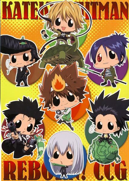Tags: Anime, Katekyo Hitman REBORN!, Reborn, Romario, Leon (Katekyo Hitman REBORN!), Kusakabe Tetsuya, Sawada Tsunayoshi, Enzio, Dino Cavallone, Rokudou Mukuro, Lancia, Xanxus, Lizard