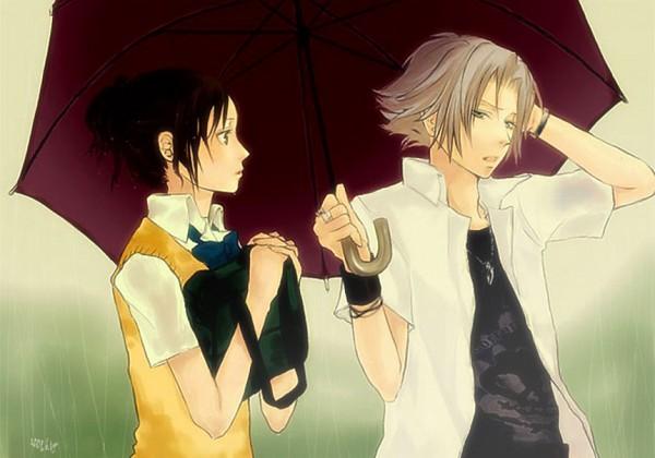 Tags: Anime, Kt, Katekyo Hitman REBORN!, Miura Haru, Gokudera Hayato, Ai-Ai Gasa, Fanart