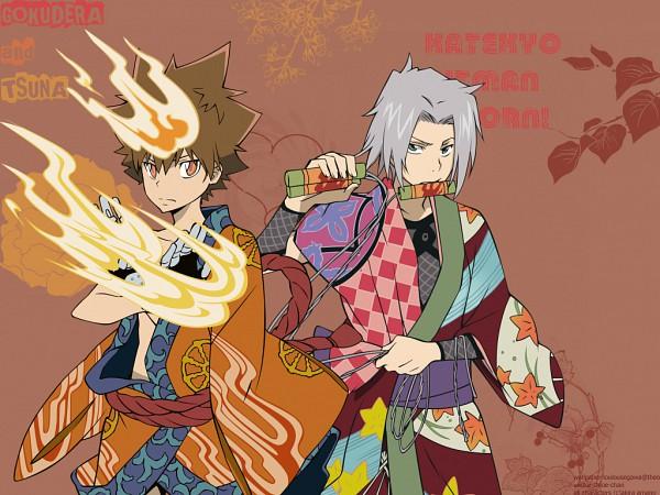 Tags: Anime, Katekyo Hitman REBORN!, Gokudera Hayato, Sawada Tsunayoshi, Dying Will Flame, Bomb, Wallpaper