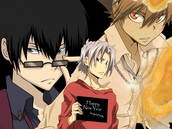 Tags: Anime, Katekyo Hitman REBORN!, Hibari Kyoya, Sawada Tsunayoshi, Gokudera Hayato, Wallpaper