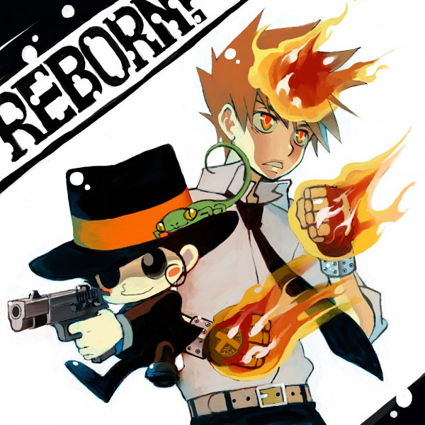 Tags: Anime, Katekyo Hitman REBORN!, Reborn, Leon (Katekyo Hitman REBORN!), Sawada Tsunayoshi, Lizard