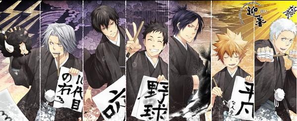 Tags: Anime, Yun (Neo), Katekyo Hitman REBORN!, Gokudera Hayato, Yamamoto Takeshi, Hibari Kyoya, Sasagawa Ryohei, Sawada Tsunayoshi, Rokudou Mukuro, Lambo, Facebook Cover