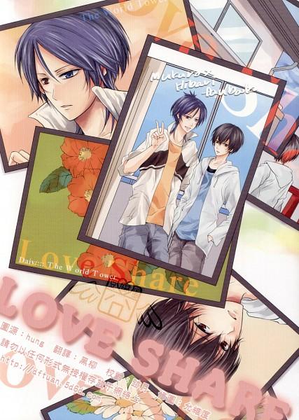 Tags: Anime, Katekyo Hitman REBORN!, Hibari Kyoya, Rokudou Mukuro, Mobile Wallpaper, Fanart, Doujinshi Cover