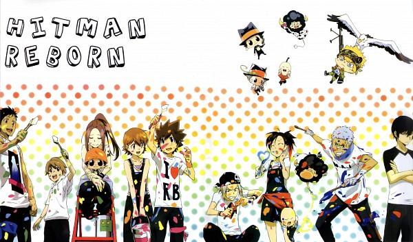 Tags: Anime, Tanaka Masayoshi, Katekyo Hitman REBORN!, Gokudera Hayato, Hibari Kyoya, Fuuta, Yamamoto Takeshi, Bianchi (Katekyo Hitman REBORN!), Sasagawa Kyoko, I-Pin, Sawada Tsunayoshi, Miura Haru, Reborn
