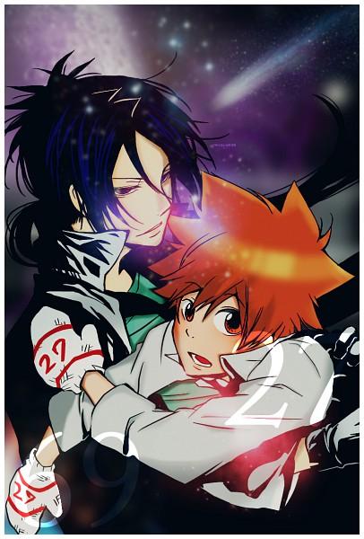 Tags: Anime, Katekyo Hitman REBORN!, Rokudou Mukuro, Sawada Tsunayoshi, Mobile Wallpaper