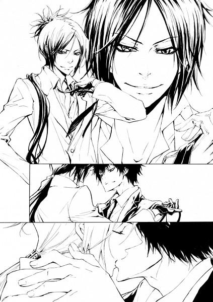 Tags: Anime, Playback, Katekyo Hitman REBORN!, Hibari Kyoya, Rokudou Mukuro, Comic, Mobile Wallpaper