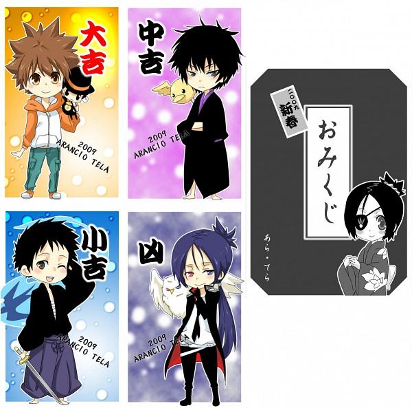 Tags: Anime, Katekyo Hitman REBORN!, Yamamoto Takeshi, Mukurou, Hibari Kyoya, Kojirou (KHR), Hibird, Sawada Tsunayoshi, Rokudou Mukuro, Chrome Dokuro, Swallow