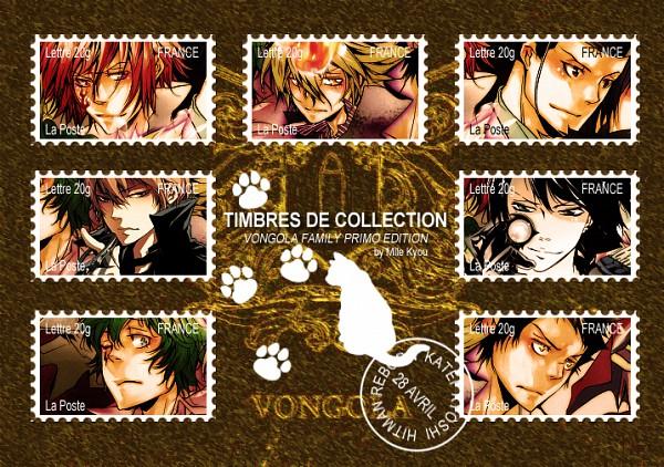 Tags: Anime, Katekyo Hitman REBORN!, Knuckle, Vongola Primo Giotto, Lampo, Alaude, Demon Spade, Asari Ugetsu, G., Stamp