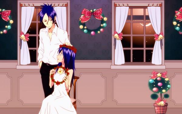 Tags: Anime, Katekyo Hitman REBORN!, Chrome Dokuro, Rokudou Mukuro, Wreath, 1680x1050 Wallpaper, Wallpaper