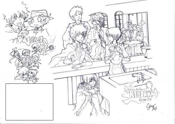 Tags: Anime, Ghazghaz (mangaka), Katekyo Hitman REBORN!, Sawada Tsunayoshi, Asari Ugetsu, Rokudou Mukuro, Chrome Dokuro, Alaude, Gokudera Hayato, Lambo, Demon Spade, Reborn, G.