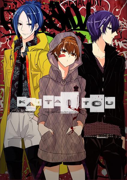Tags: Anime, Kondoru, Katekyo Hitman REBORN!, Rokudou Mukuro, Hibari Kyoya, Sawada Tsunayoshi, Mobile Wallpaper