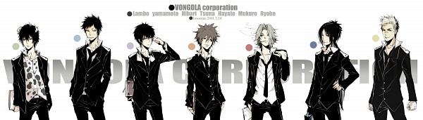 Tags: Anime, Josco, Katekyo Hitman REBORN!, Sawada Tsunayoshi, Rokudou Mukuro, Lambo, Gokudera Hayato, Sasagawa Ryohei, Hibari Kyoya, Pixiv, Fanart