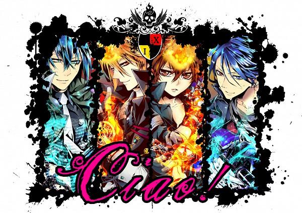 Tags: Anime, Pixiv Id 41089, Katekyo Hitman REBORN!, Sawada Tsunayoshi, Demon Spade, Vongola Primo Giotto, Rokudou Mukuro, Dying Will Flame, Fanart, Pixiv