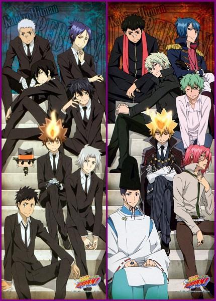 Tags: Anime, Tanaka Masayoshi, Katekyo Hitman REBORN!, Leon (Katekyo Hitman REBORN!), Demon Spade, Adult Lambo, Yamamoto Takeshi, Asari Ugetsu, Sawada Tsunayoshi, G., Reborn, Knuckle, Lambo