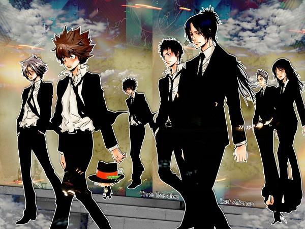 Tags: Anime, Katekyo Hitman REBORN!, Leon (Katekyo Hitman REBORN!), Adult Lambo, Yamamoto Takeshi, Sawada Tsunayoshi, Sasagawa Ryohei, Reborn, Lambo, Lal Mirch, Rokudou Mukuro, Hibari Kyoya, Gokudera Hayato