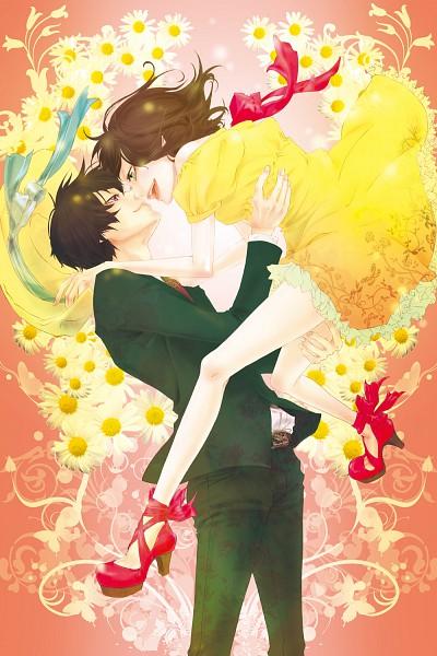 Tags: Anime, Vanilla (Nicolla), Katekyo Hitman REBORN!, Miura Haru, Hibari Kyoya, Lifting, Mobile Wallpaper