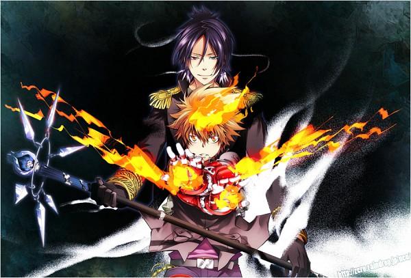 Tags: Anime, Yun (Neo), Katekyo Hitman REBORN!, Sawada Tsunayoshi, Rokudou Mukuro, Dying Will Flame, Pixiv, Fanart
