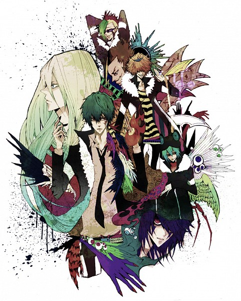 Tags: Anime, Pixiv Id 573568, Katekyo Hitman REBORN!, Leviathan (Katekyo Hitman REBORN!), Lussuria, Mammon, Superbi Squalo, Xanxus, Belphegor, Fran, Mohawk, Frog Hat, Pixiv