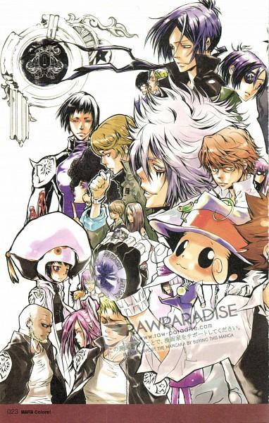 Tags: Anime, Katekyo Hitman REBORN!, Irie Shouichi, Kakimoto Chikusa, Chrome Dokuro, Tazaru, Byakuran, Genkishi, Gamma (Katekyo Hitman REBORN!), Spanner, Yuni, Reborn, Bianchi (Katekyo Hitman REBORN!)