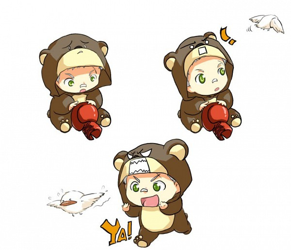 Tags: Anime, Katekyo Hitman REBORN!, Sasagawa Ryohei, Hibird, Bear Costume, Pixiv