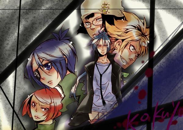 Tags: Anime, Pixiv Id 2087036, Katekyo Hitman REBORN!, Kakimoto Chikusa, Chrome Dokuro, Rokudou Mukuro, M.M., Joushima Ken, Kokuyo Uniform, Pixiv, Fanart, Fanart From Pixiv