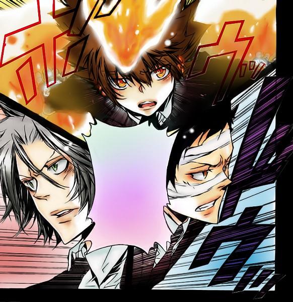 Tags: Anime, Katekyo Hitman REBORN!, Sawada Tsunayoshi, Gokudera Hayato, Yamamoto Takeshi, Colorization