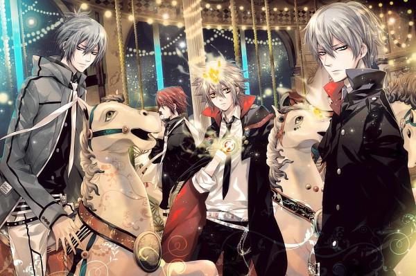 Tags: Anime, Ciel 33.3, Katekyo Hitman REBORN!, Demon Spade, G., Vongola Primo Giotto, Alaude, Peaceful, Numnah, Carousel, Emblem, Rocking Horse, Pixiv