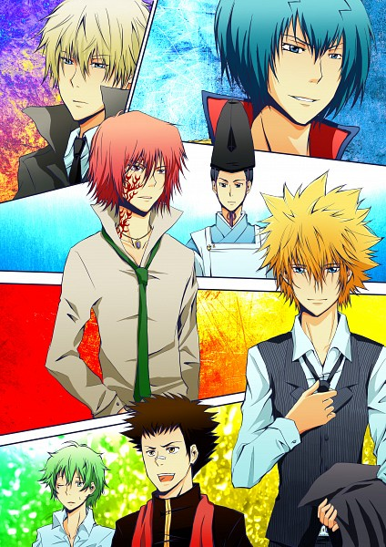 Tags: Anime, Pixiv Id 3406038, Katekyo Hitman REBORN!, Alaude, Demon Spade, Asari Ugetsu, G., Knuckle, Vongola Primo Giotto, Lampo, Vongola First Generation (Group), Vongola Family (Group), Fanart From Pixiv